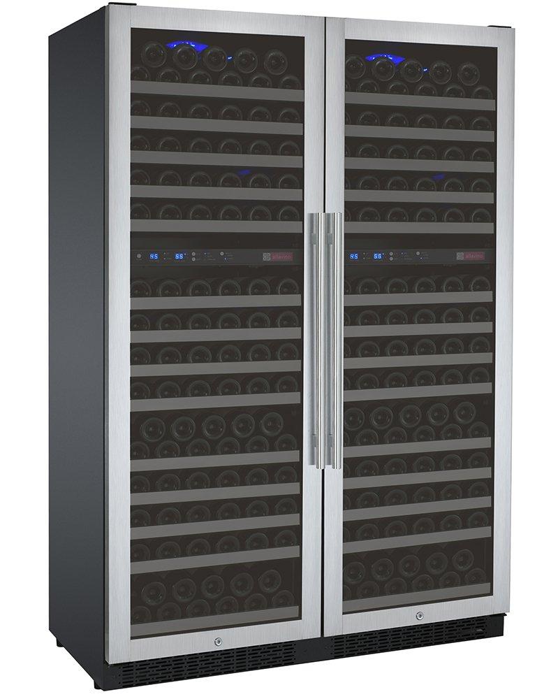 Allavino FlexCount 2X-VSWR172-2SST - 344 Bottle Multi-Zone Wine Refrigerator - Side by Side
