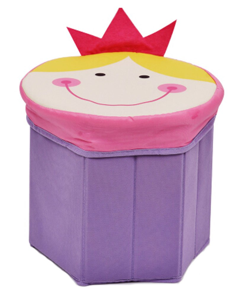 Storage Ottoman Collapsible Foldable Foot Rest Cartoon Storag Ottoman PRINCESS Blancho Bedding