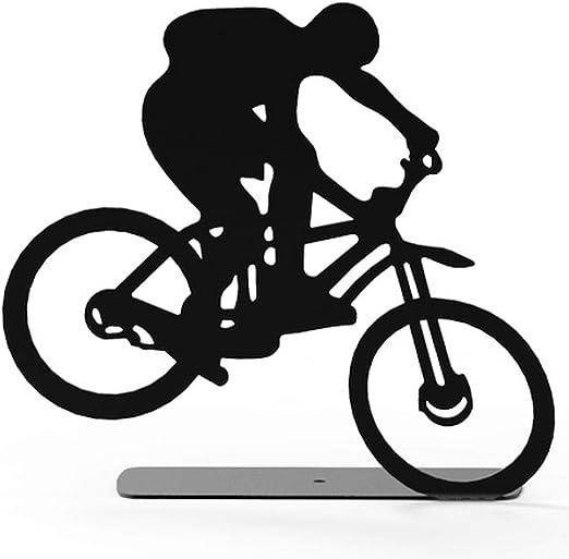 ARTORI Extreme Bike Rider Metal Black Decorative Sculpture Statue Shelf Small