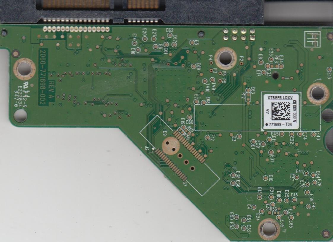 WD20EARS-00J99B0 771698-T04 AA PCB de la Unidad WD SATA 3.5 Tarjeta L/ógica