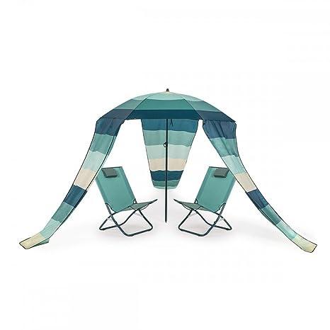 HomeKraft Maui Extra 2 transats sillas plegables sombrilla ...