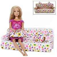 Zixed Children Floral Mini Sofa Toy with 2 Cushions Furniture