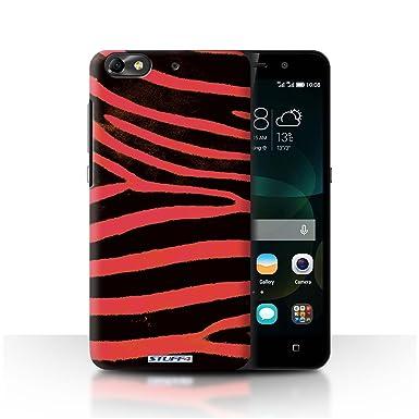 Stuff4 Funda/Carcasa para Huawei G Play Mini/Rojo patrón ...