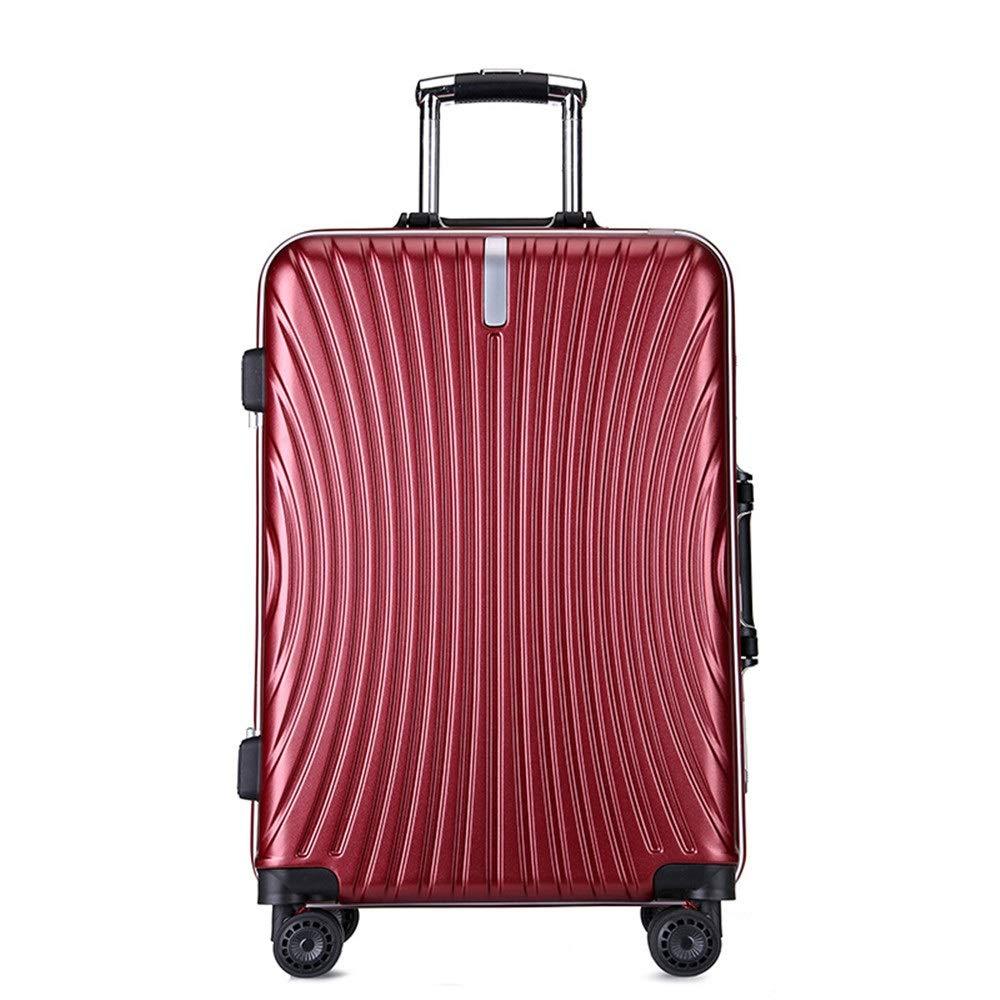 スーツケース TSAロック付き拡張可能スピナーキャリーオンラゲッジPC + ABS ハードケーススピナースーツケース20インチ24インチ (色 : 赤, サイズ : 20inches) B07VC6TRLQ 赤 20inches