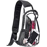Clear Sling Bag, Stadium Approved Mini PVC Crossbody Shoulder Backpack, Transparent Casual Chest Daypack for Women & Men…
