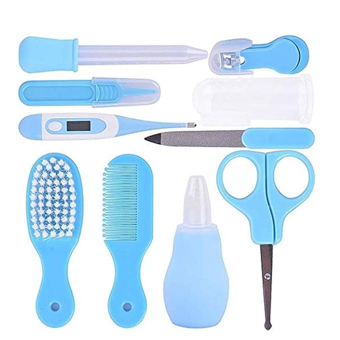 Baby Grooming Kit Infantil Nursery Set Cuidado de niños Baby Clipper de uñas File Tijera Pinzas Termómetro Cepillo Comb Comb Set de limpieza Kits ...