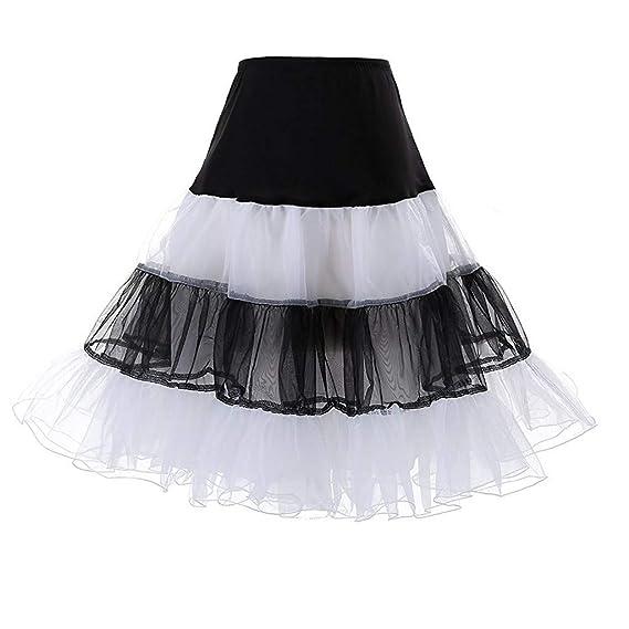 QinMMROPA Falda tutú de Tul Plisado para Mujer Falda Corta Falda ...