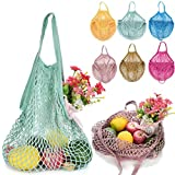 Makaor Portable Reusable Mesh Net String Shopping Bag Reusable Fruit Storage Handbag Totes New Turtle Bag (F, Size: 32 x 38 x 15cm)