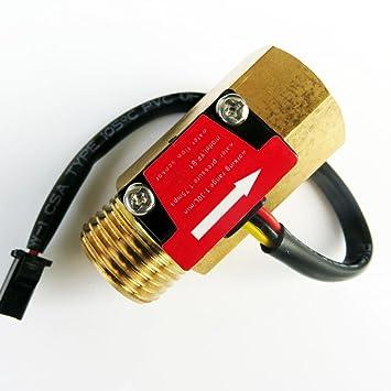 """G1/2"""" Rosca Sensor de Flujo de Agua Interruptor de Control Caudalímetro de Agua"""
