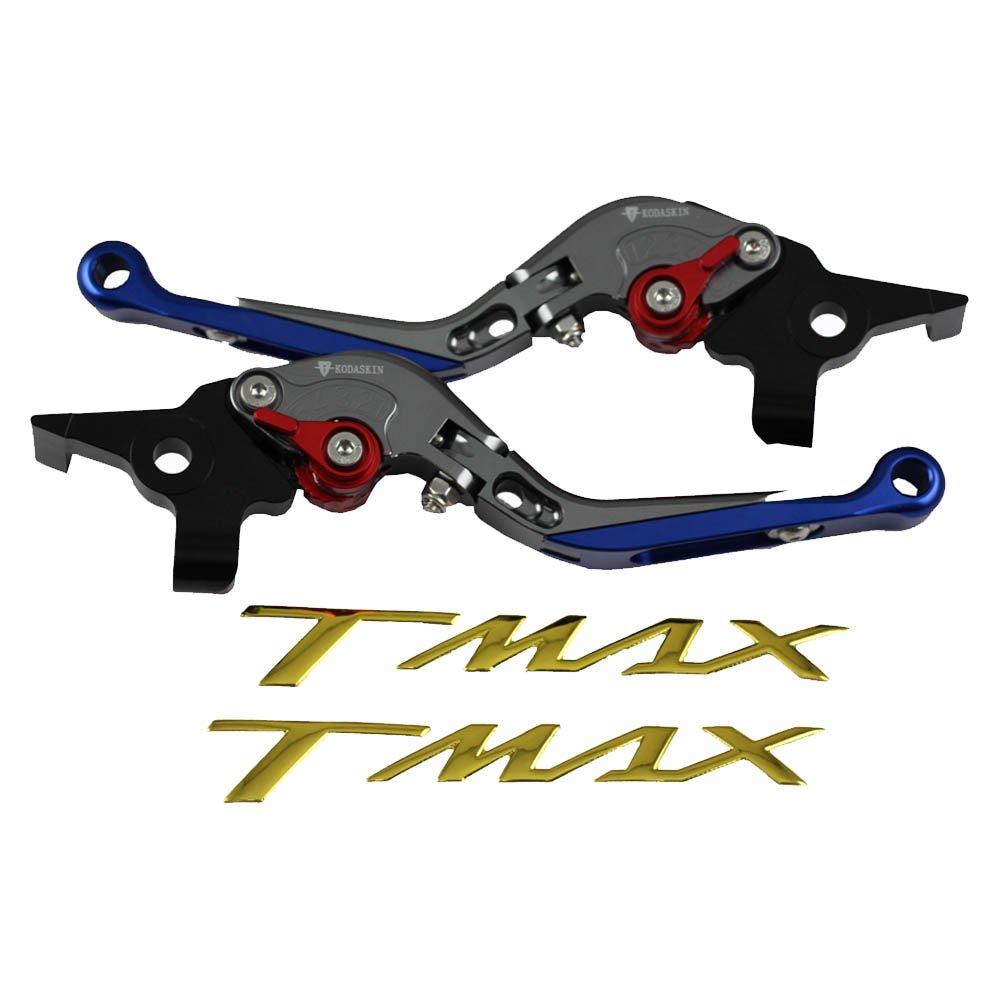 Palancas de embrague de freno extensibles plegables para Yamaha TMAX 500 2008-2011 XP500 2012-2015 (rojo) KODASKIN-EU