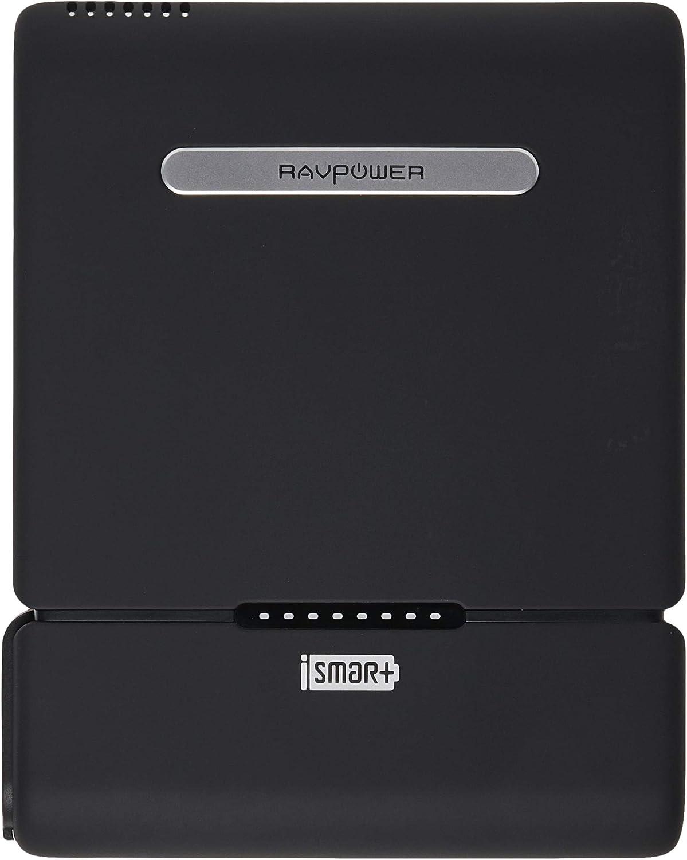 Toma de CA cargador portátil [versión actualizada] RAVPower 27000 mAh 100 W (Max.) construido en banco de alimentación universal AC de 3 clavijas enchufe cargador de viaje (Indicador de alimentación de CA