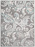 "Cheap Mayberry Rugs INT7416 Paisley Gray Transitional Area, 7'10"" x9'10"