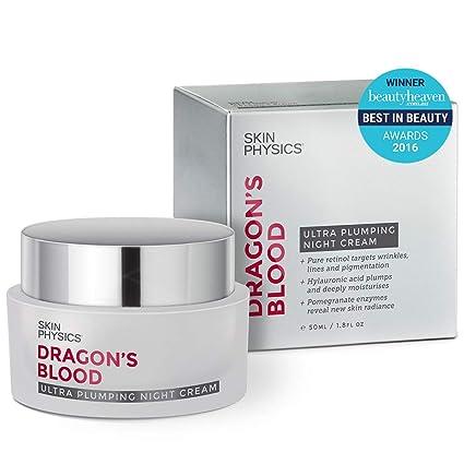 La sangre de dragón Ultra Plumping CREMA DE NOCHE (50 ml/1,8 FL. OZ) ganador de premio que reduce las arrugas de tratamiento Antienvejecimiento, edad ...