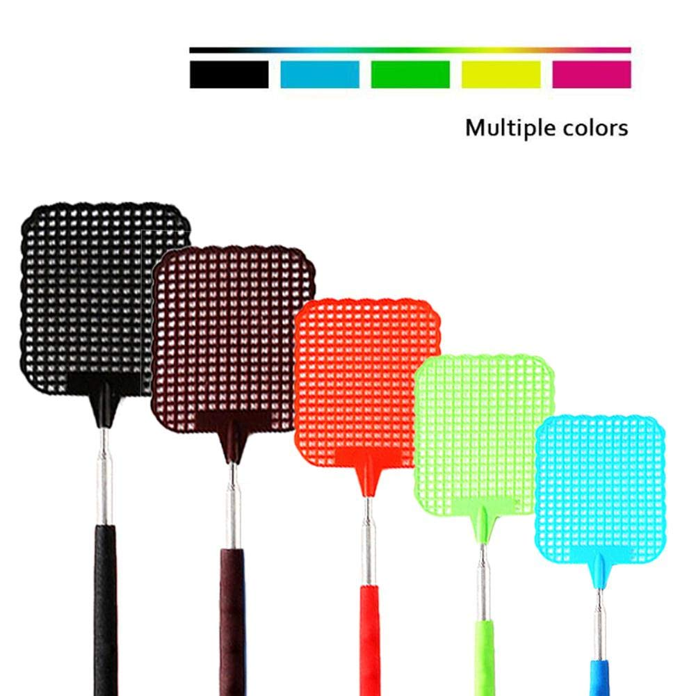 Ritapreaty 5PCS Fly Swatter Retractable ABS Material Summer Mosquito Killer Home Daily Telescopic Fly Swatter 3.15 X 28.74 inch