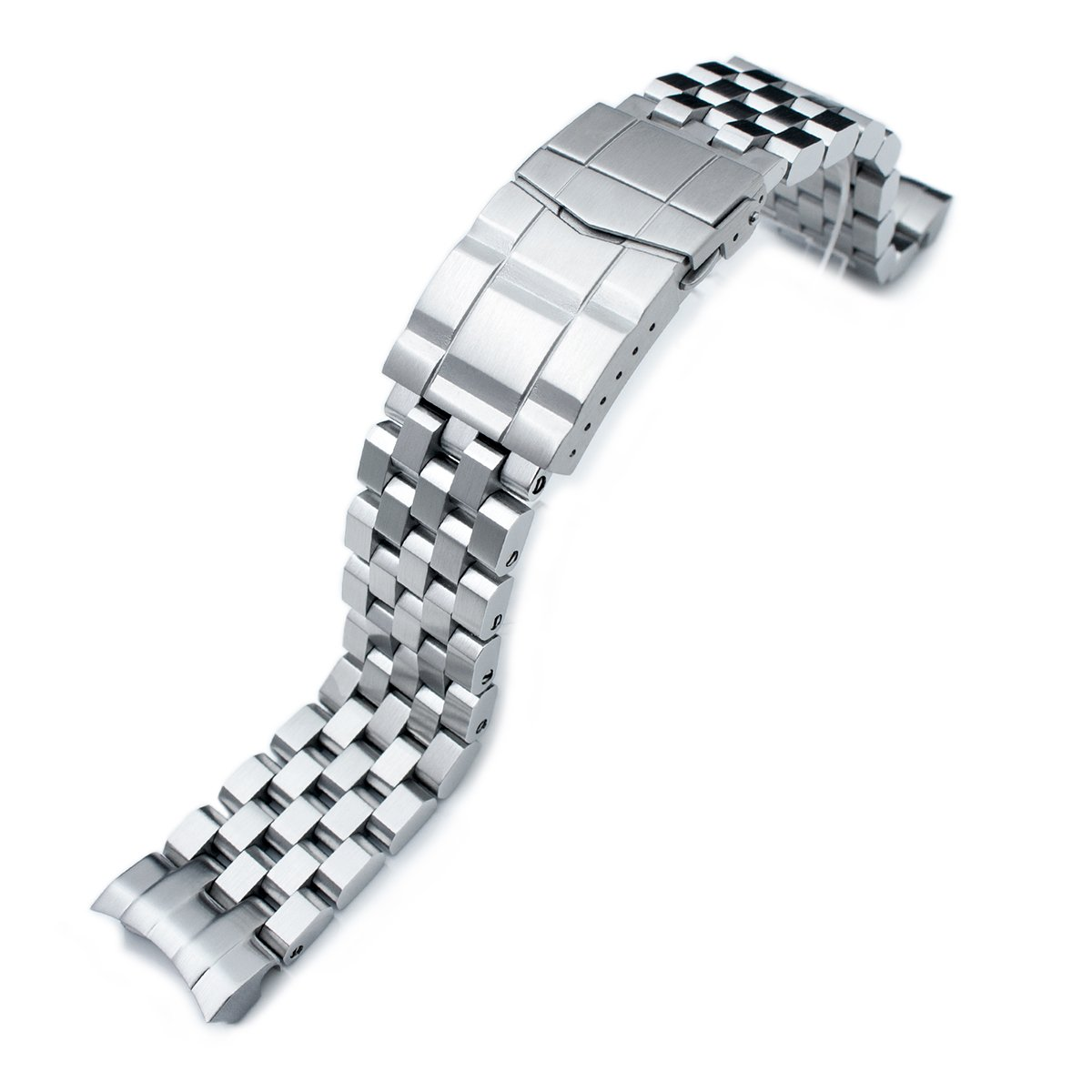 Super Engineer II Watch Band for SEIKO Sumo SBDC001 SBDC003 SBDC031 SBDC033, Sub-Clasp by Seiko Replacement by MiLTAT