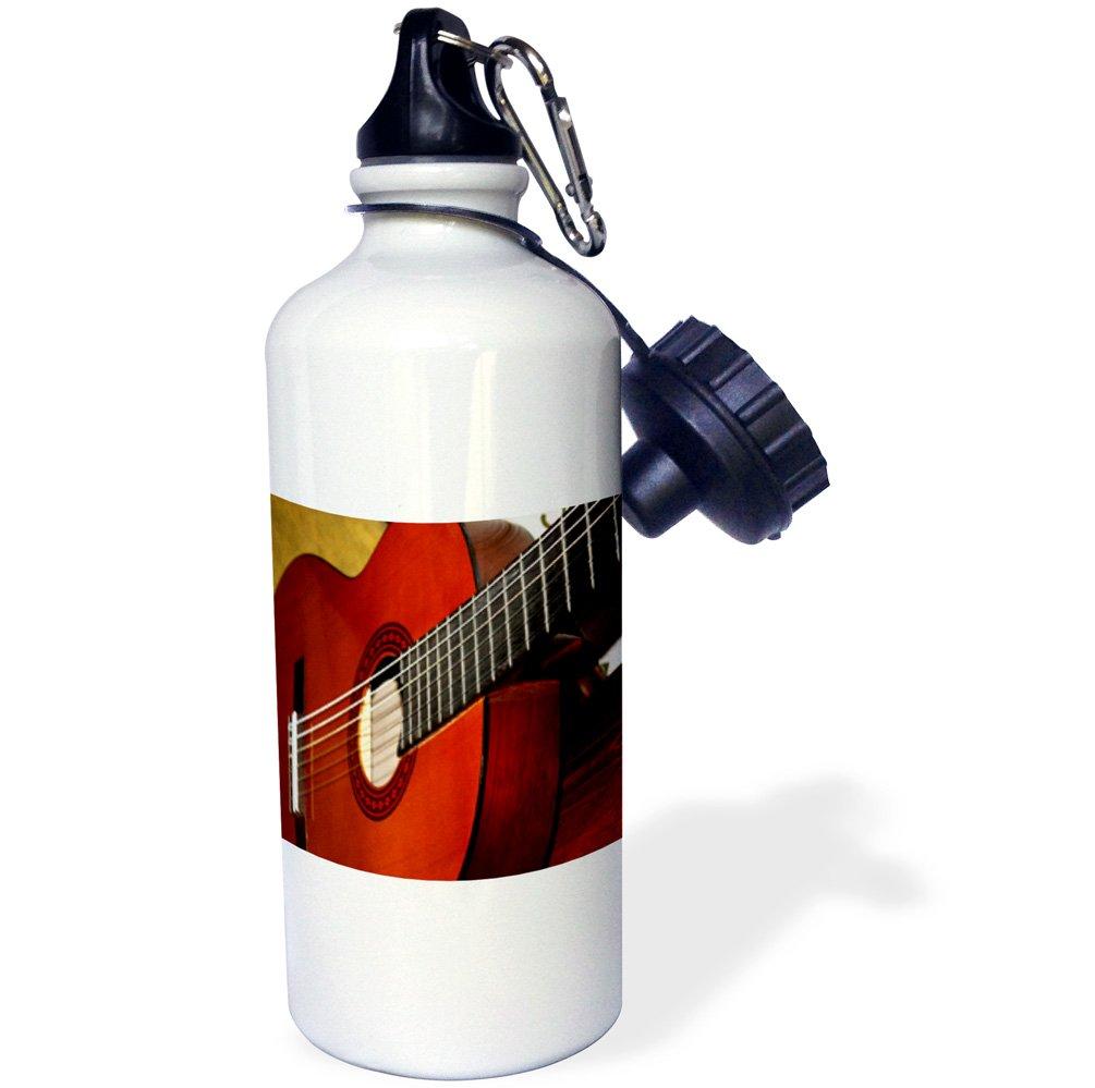 White 21 oz 3dRose wb/_112274/_1Closeup Of A Classical Guitar Sports Water Bottle