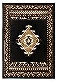 South West Native American Area Rug Design Kingdom 143 Black (8 Feet X 10 Feet)