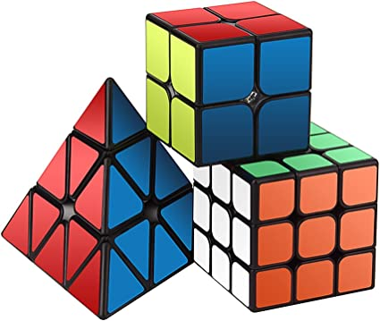 3x3 Rubiks Cube Speed Pyramid cube Ultra-Smooth Professional Puzzle Game Cube