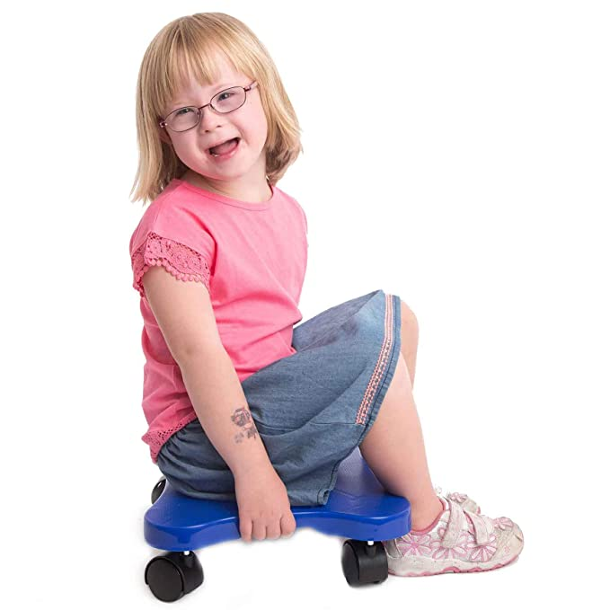 Fun and Function Plastic Scooter Board with Handles - 16 inch - Improves Balance, Posture and Coordination with Exercise for Ages 3+