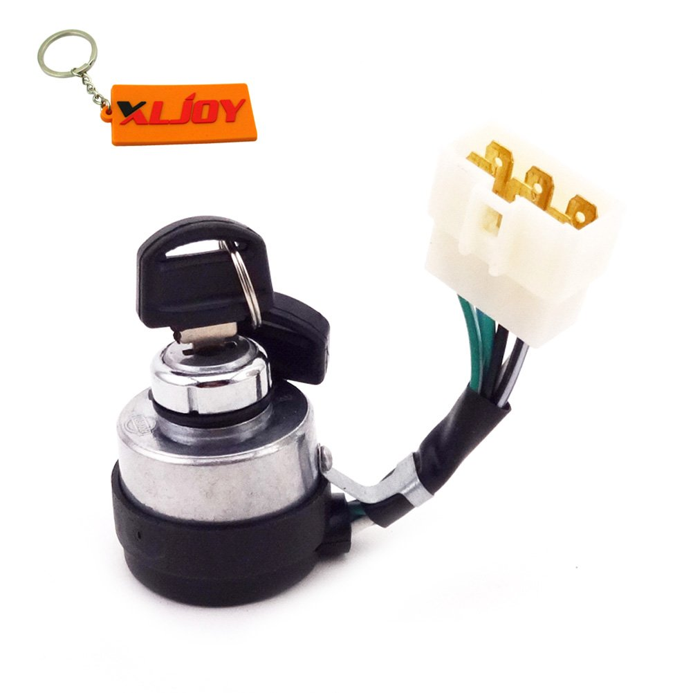 XLJOY 6 Wire On Off Start Ignition Key Switch Fit Chinese Portable Gasoline Generator