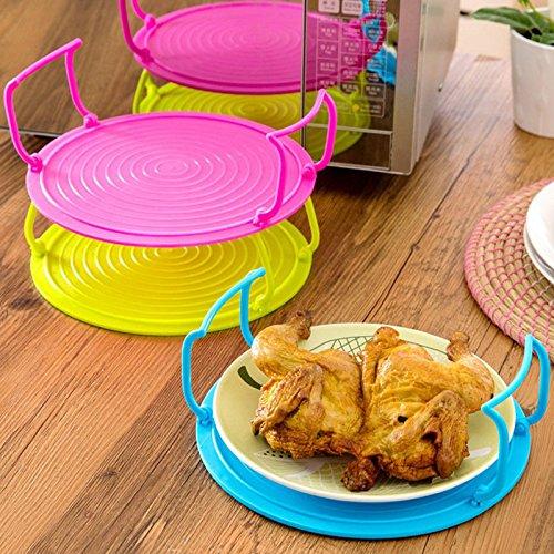 bureze cocina microondas soporte de plato rack de doble capa placa ...