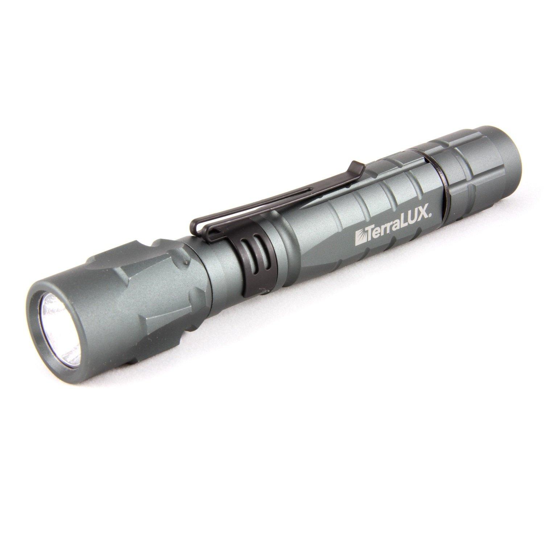 TerraLUX tlf-3 C2aaex Taschenlampe Hand Flashlight, 2 AA, Schwarz, Aluminium)