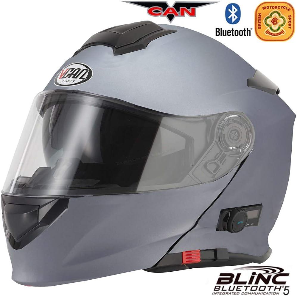 Oxford Helmet Care Kit 59-60cm VCAN V271 Blinc Motorcycle Motorbike Bluetooth Flip UP Helmet Matt Titanium L