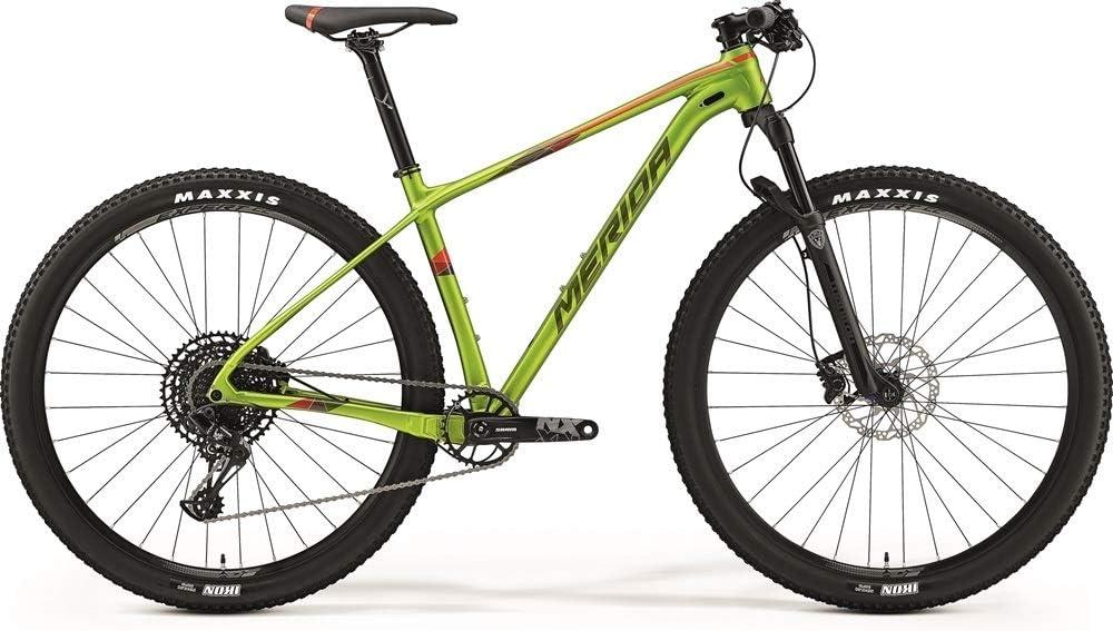 Merida Big.Nine NX-Edition 2019 - Bicicleta de montaña, color verde y rojo