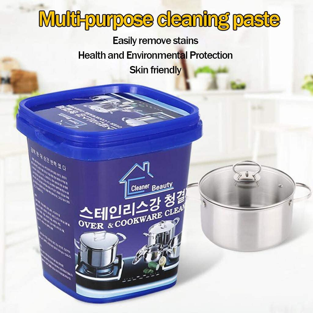 AGUIguo Oven & Cookware Cleaner Cleaning Paste for Cookware, Glass Ceramic Stoves, Bath tubs, Tiles, Sinks, Chrome, Metal, UPVC Windows and Doors, Patio Furniture (1)