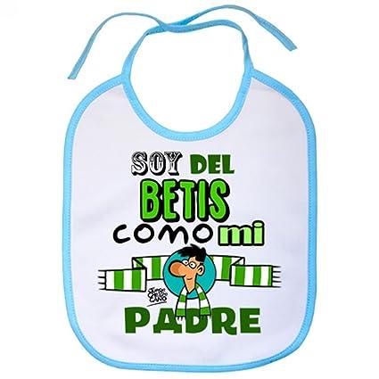 Babero Real Betis soy del Betis como mi padre - Celeste