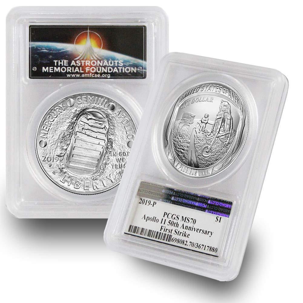2019 P US Apollo 11 Commemorative Proof Silver $1 PCGS PR70 DCAM First Strike