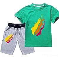 TAIKESEN Batubatu Preston Playz prestonplayz Gamer Flame Unisex Kids Short Sleeve Set