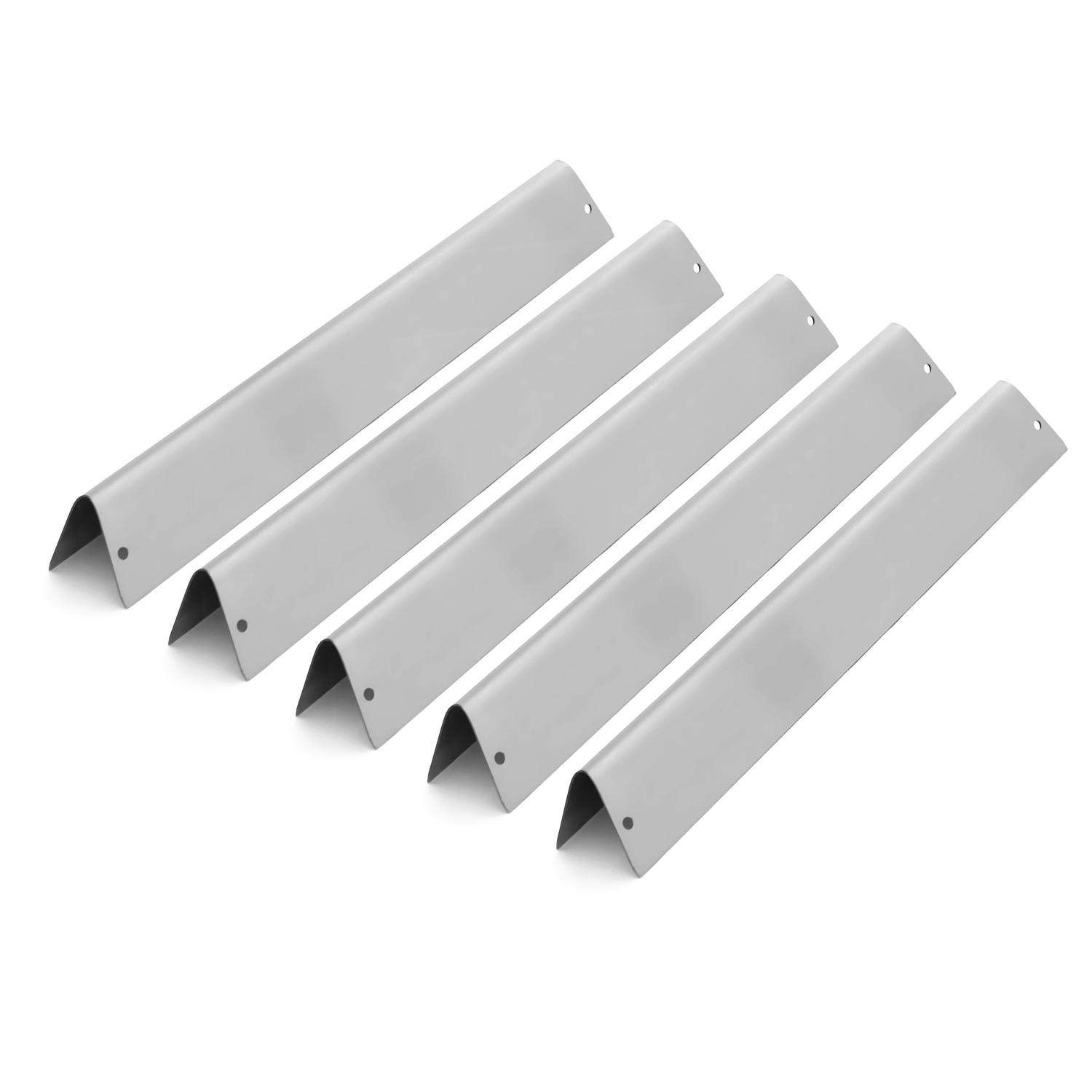 BBQGuys 7620 Stainless Steel Flavorizer Bars for Weber Genesis 300 Series Gas Grills W/Front Mounted Control Panel - 5-Pieces