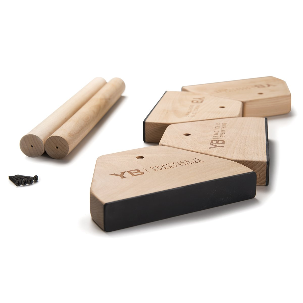 YOGABODY Birch Wood Parallettes (Set of 2)   Beautiful, Smooth, Non-Slip Yoga & Gymnastic Training Tool for L-Sits, Lolasana, Handstand Pushups, Jump Backs & More by YOGABODY (Image #5)
