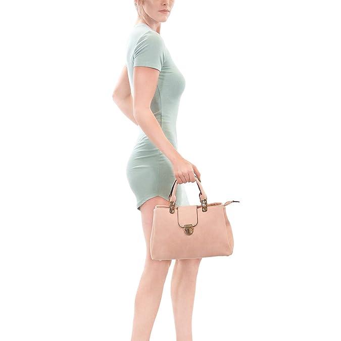 Dasein Women Satchel Handbags Top Handle Purse Medium Tote Bag Vegan Leather Shoulder Bag by Dasein