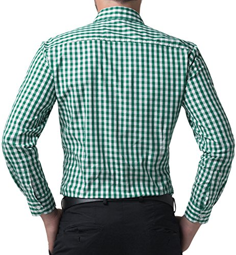 Green Fit JONES Casual Men's Long Shirt PAUL Sleeve Slim Shirt azqwn