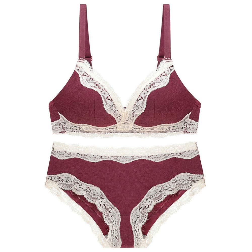 Amazon.com: MUNIU - Conjunto de ropa interior de encaje para ...