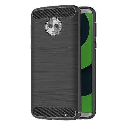 AICEK Funda Motorola Moto G6 Plus, Negro Silicona Fundas ...