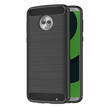 cc0a393b891 AICEK Funda Motorola Moto G6 Plus, Negro Silicona Fundas para Moto G6 Plus  Carcasa Motorola Moto G6 Plus Fibra de Carbono Funda Case (5,93 Pulgadas):  ...