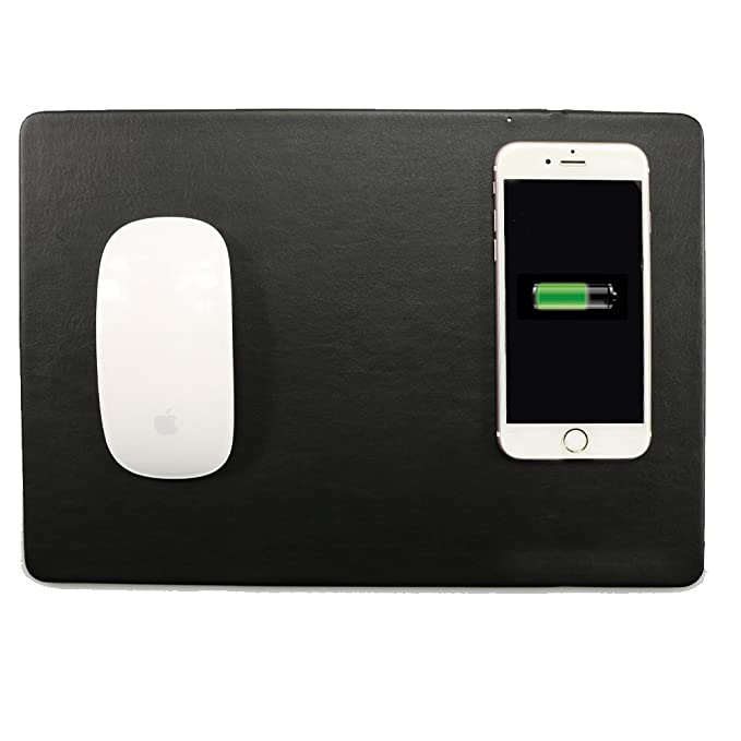 buy popular 34d36 c6074 Amazon.com: Mouse Pad Qi Wireless Charger SIKAI Wireless Charging ...