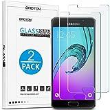 [2 Stück] OMOTON Panzerglas Schutzfolie für Samsung Galaxy A3[2016], 9H Härte, Anti-Kratzen, Anti-Öl, Anti-Bläschen, lebenslange Garantie