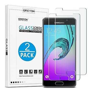 [2 Stück] OMOTON Panzerglas Schutzfolie für Samsung Galaxy A3[2016], 9H Härte, Anti-Kratzen, Anti-Öl, Anti-Bläschen, lebensla