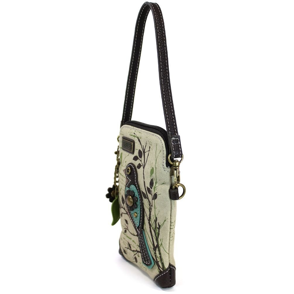 Chala Crossbody Cell Phone Purse - Women Canvas Multicolor Handbag with Adjustable Strap (Bird - Safari Sand) by CHALA (Image #3)