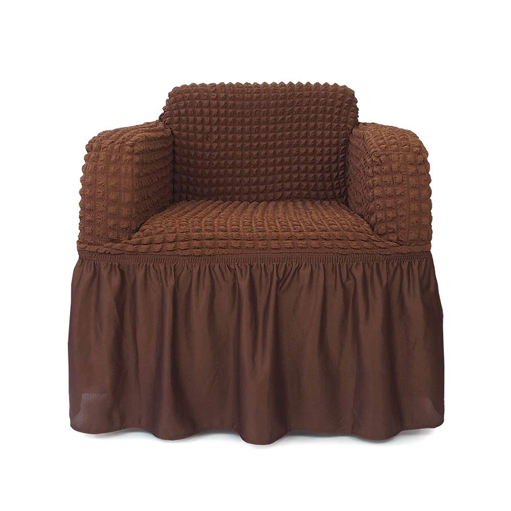 Niceec 1 piece stretchable easy fit sofa cover durable furniture slipcover in country style made of machine washable and quick drying fabric for 1 seat