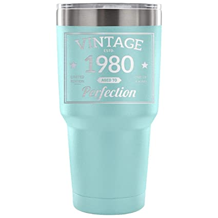 1980 38th Birthday Gift Vintage Year For Women And Men 30 Ounce Vacuum Tumbler