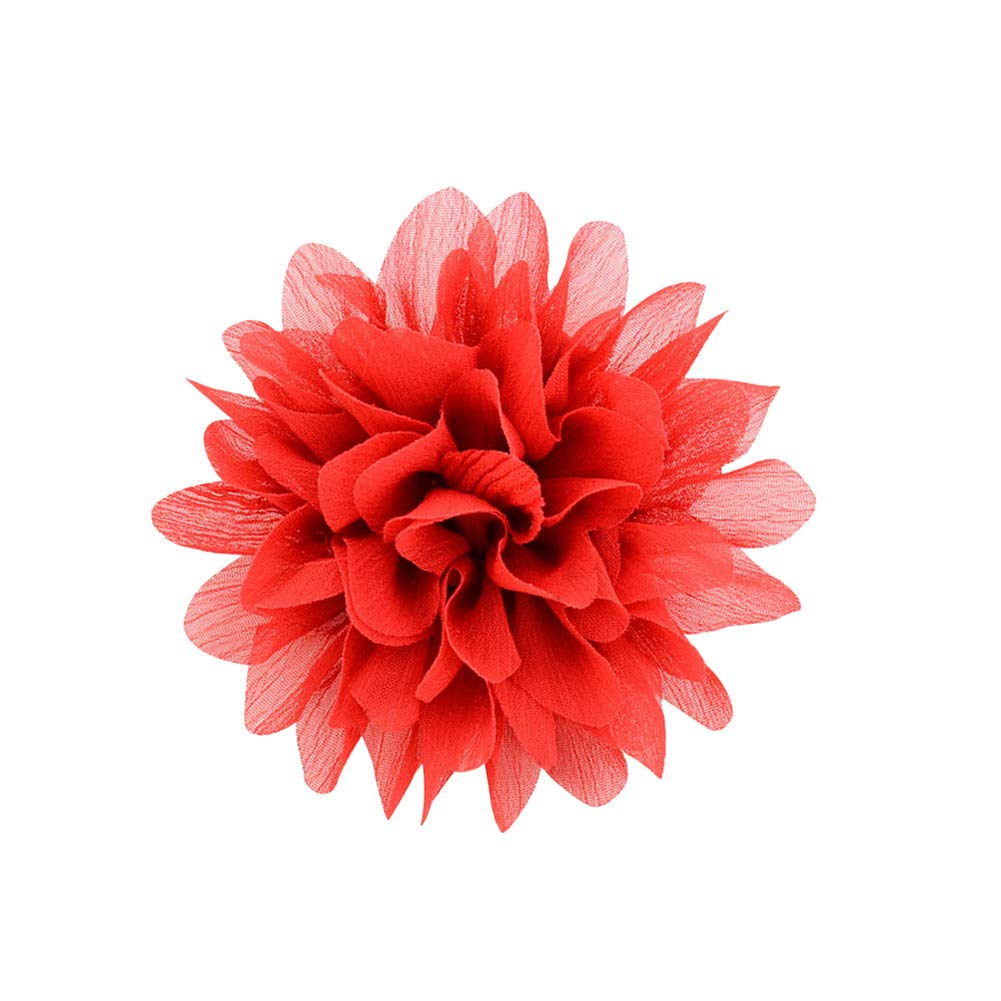 Dosige Épingle à Cheveux en Mousseline de Soie Fleur de Lotus Grande Fleur moitié Pack Clip Mignon étudiant Enfants épingle à Cheveux décoration Size 9 * 5cm (Blanc)