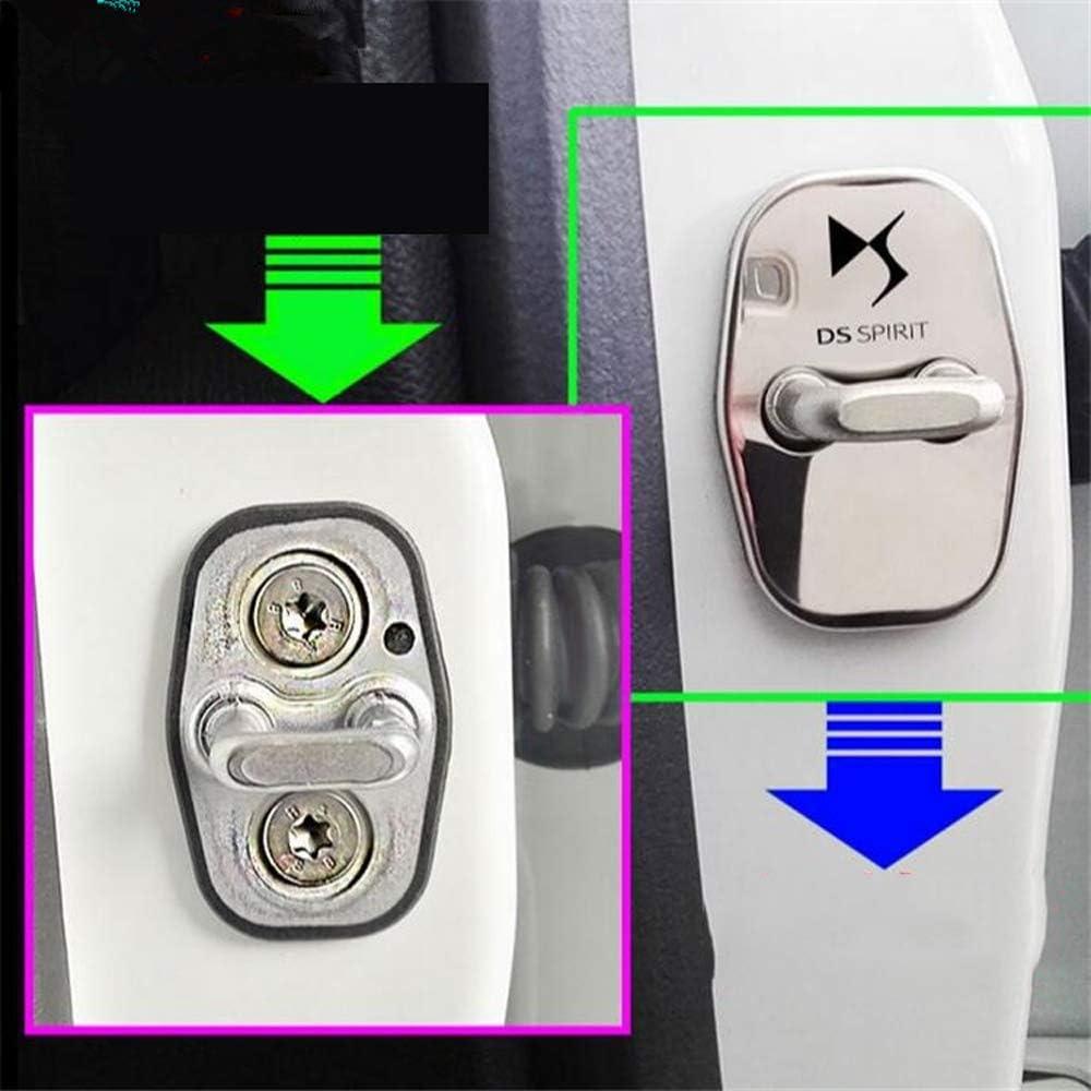 Set Serrures Capot de Protection de Porte de Voiture en Acier Inoxydable pour Citroen DS4 DS5 DS5LS DS6 DS3,Argent LAUTO 4pcs