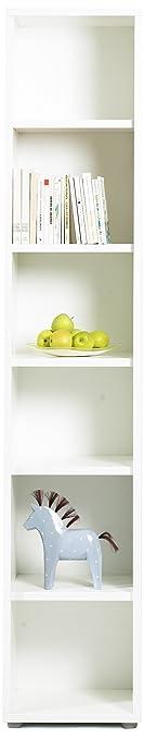 Tvilum Fairfax Tall Narrow Bookcase, White