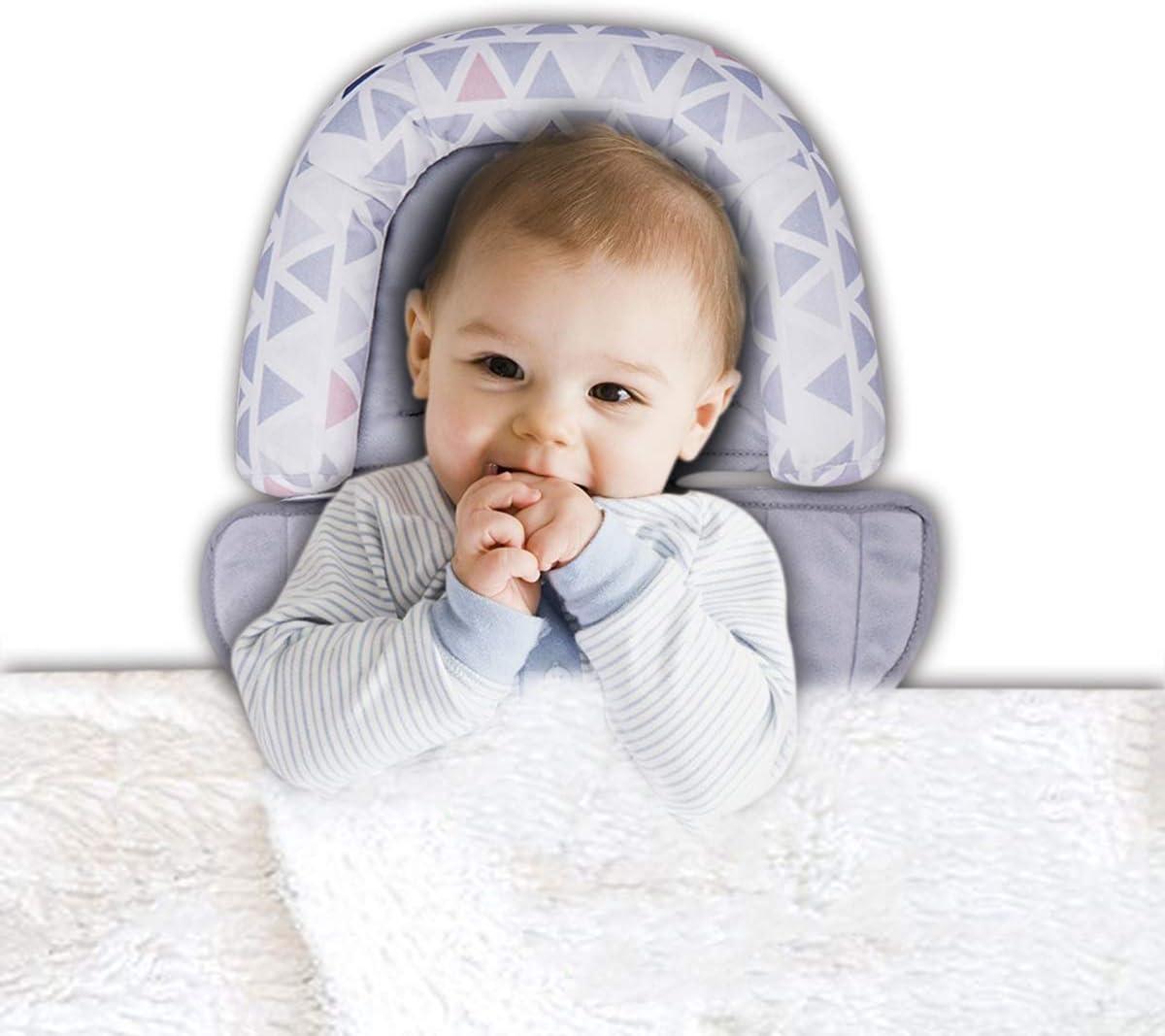 Almohada para Bebe portátil almohada para el cuidado del bebé silla paseante asiento de carro reclinable cuna colchón