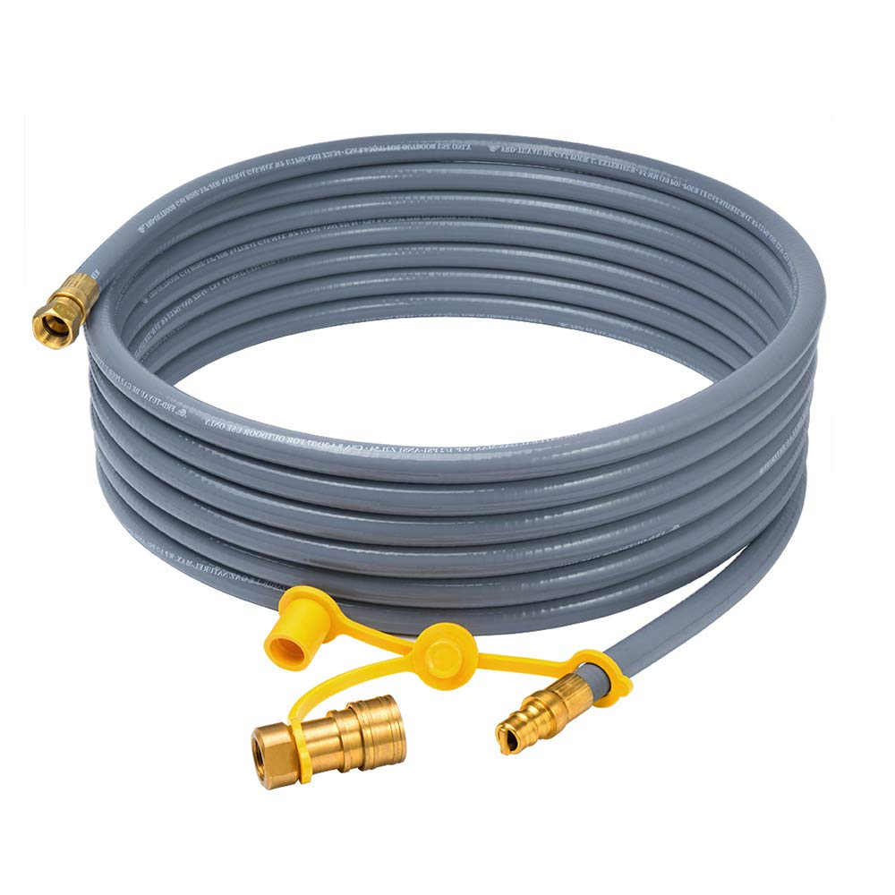 6. XHome 24 Foot Natural Gas and Propane Gas Hose Assembly 3/8